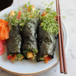 Avocado Tofu Veggie Hand Rolls
