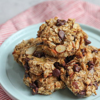 Skinny Banana Oat Flaxseed Cookies for #BrunchWeek