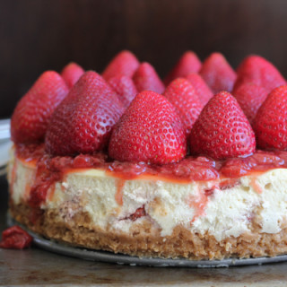 Classic Strawberry Topped Cheesecake + A Giveaway!
