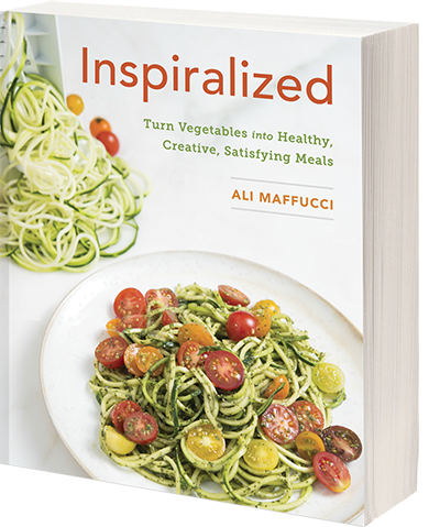 Super easy and delicious, you have to try this Italian Zucchini Pasta Salad! AND enter to WIN both the Inspiralized cookbook and a spiralizer of your own! It's the complete Inspiralized giveaway! #giveaway #inspiralized @hipfoodiemom1