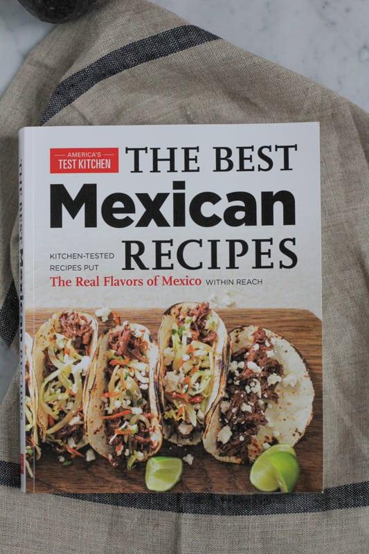 Cookbook with Corn and Black Bean Tortilla Tart recipe.