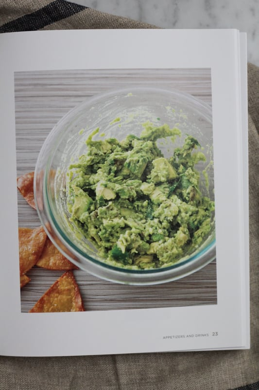 Page from America's Test Kitchen's The Best Mexican Recipes with an image of guacamole.