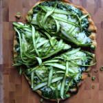 Shaved Asparagus and Pesto Pizza