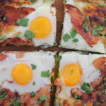 Grilled Breakfast Pizza with Pesto
