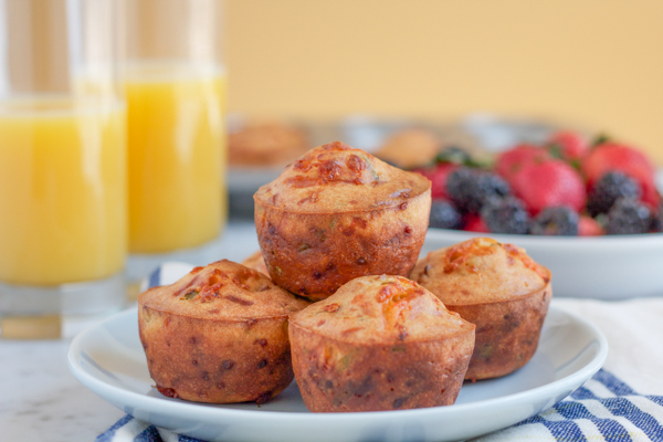 Cheddar Cheese, Chive and BACON muffins! These savory muffins are like ...