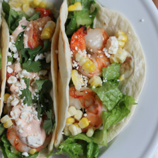 Grilled Shrimp Tacos with Mexican Crema