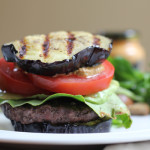 Grilled Eggplant Bun Burger + A Giveaway!