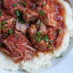 Slow Cooker Pork with Mashed Cauliflower