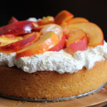 Olive Oil Honey Cake with Fresh Peaches