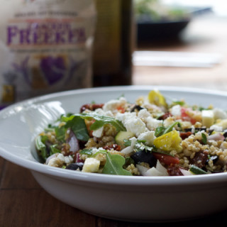 Mediterranean Freekeh Salad + A Giveaway!