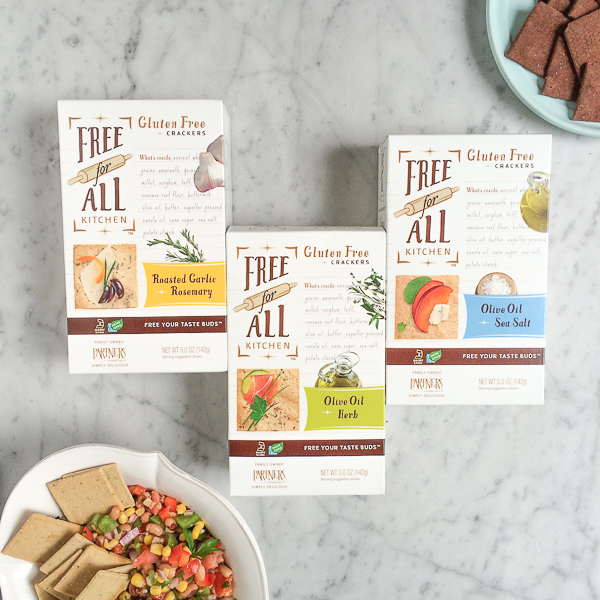 PARTNERS gluten free crackers made with cassava root flour and a blend of five ancient grains: amaranth, quinoa, millet, sorghum and teff. #ad #glutenfree