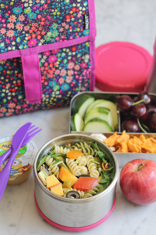 Our Favorite Pasta Salad and Back to School with PackIt Freezable Bags!! You won't want to start the school year without one of these! Keep your fruits and veggies fresh and cool! #ad #PackItCool #giveaway