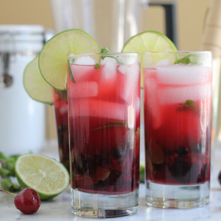 Perfect, Refreshing Blueberry Cherry Mojito
