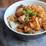 Eggplant Mapo Tofu. Make a trip to the Asian market and make one of your favorite Chinese food dishes at home!