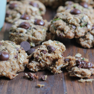 Gluten Free Zucchini Coconut Chocolate Chip Cookies