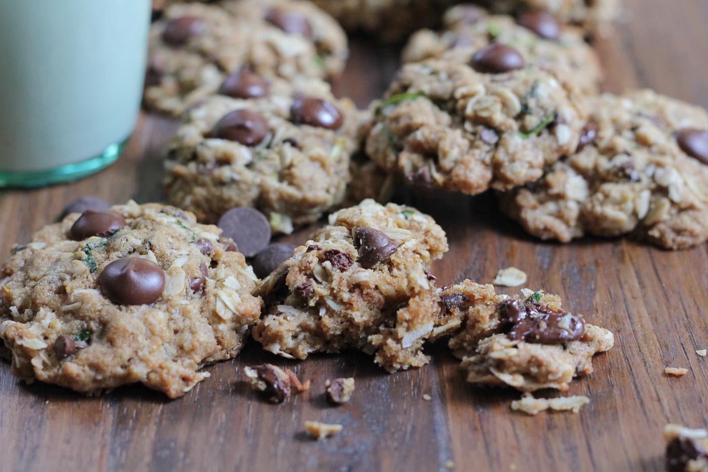 Gluten Free Zucchini Coconut Chocolate Chip Cookies • Hip Foodie Mom
