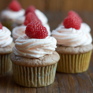 Roasted Raspberry Cinnamon Cupcakes + A Stand Mixer Giveaway!