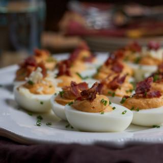 Sweet Potato Deviled Eggs