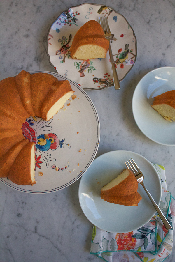 Mama's 7Up Pound Cake from the Grandbaby Cakes cookbook. A classic and decadent treat complemented by the subtle flavor of citrus soda. The crunchy crust and moist inner texture makes this cake simply irresistible! #GrandbabyCakesBook