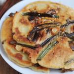 Korean Kimchi Scallion Pancakes