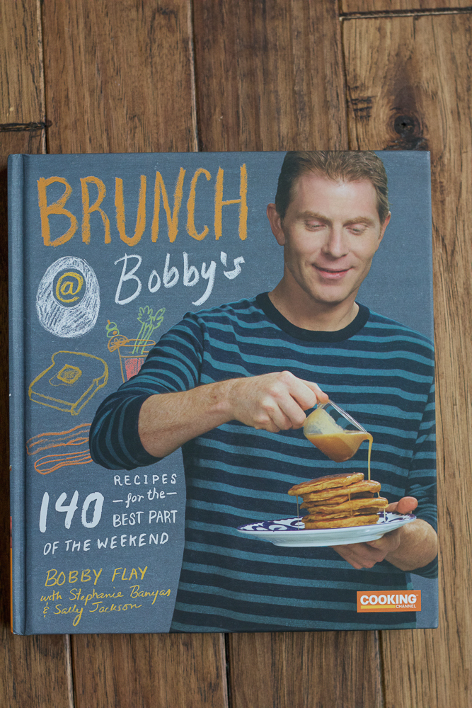 Brunch at Bobby's Cookbook! Pull up a seat and enjoy a Sangria Sunrise, Carrot Cake Pancakes with Maple-Cream Cheese Drizzle, Sautéed Bitter Green Omelets, Wild Mushroom-Yukon Gold Hash and much, much more. This is how Bobby does brunch.