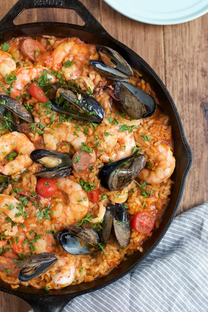 ... Seafood Paella that you can make at home! And you don't need a paella