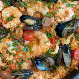 Authentic, Spicy Seafood Paella