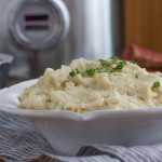 Slow Cooker Mashed Potatoes with Cauliflower