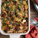 Hot and Spicy Cheesebread Stuffing with Jones Bacon