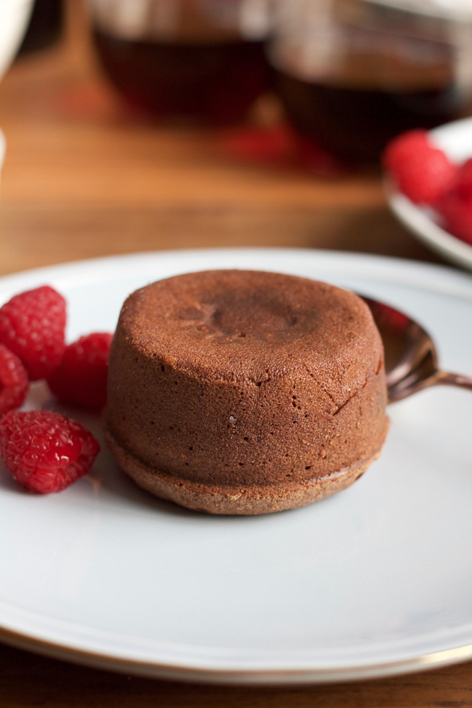 Boozy Chocolate Lava Cakes made with Cabernet Sauvignon. So delicious and so EASY to make! The perfect dessert for any chocolate lover! #ad