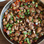 Easy Kung Pao Chicken. Make your fave Chinese food at home! Spicy, savory, easy and delicious. . . you've got to try this!