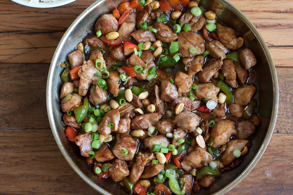 Easy Kung Pao Chicken. Make your fave Chinese food at home! Spicy, savory, easy and delicious. . . you've got to try this! #spon
