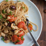Whole Grain Pasta with White Beans and Tomatoes + A Giveaway!