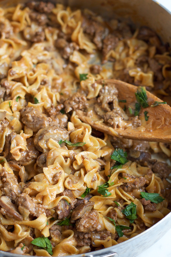 Best One Pot Beef Stroganoff Ever Hip Foodie Mom