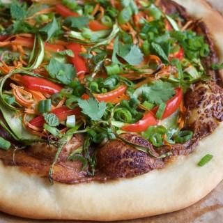 Vegan Asian Spring Roll Pizza