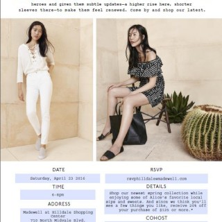Spring Event at Madewell in Madison
