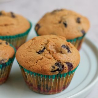 Healthy Lemon Blueberry Muffins + A Video!