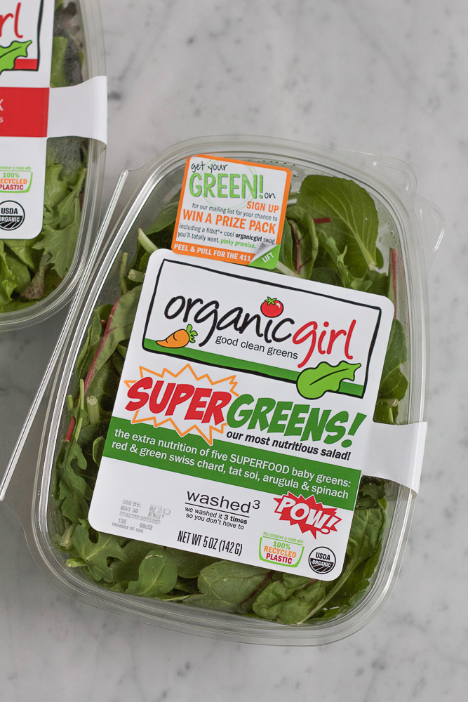 A package of greens for Power Pasta Salad.