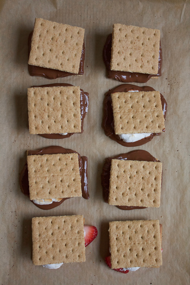 Easy S'mores At Home! Completely indulgent and yummy, this is the perfect quick, summer treat to make at home and share with friends and family!