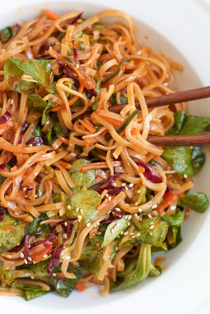 spicy korean noodle salad � hip foodie mom