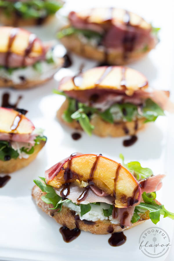 ... Peach Crostini with Arugula, Prosciutto, and Goat Cheese, Easy Roasted