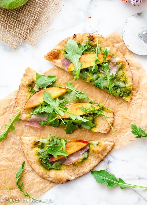grilled-flatbread-pizza-with-arugula-pesto-nectarines-and-prosciutto1-flavorthemoments.com_