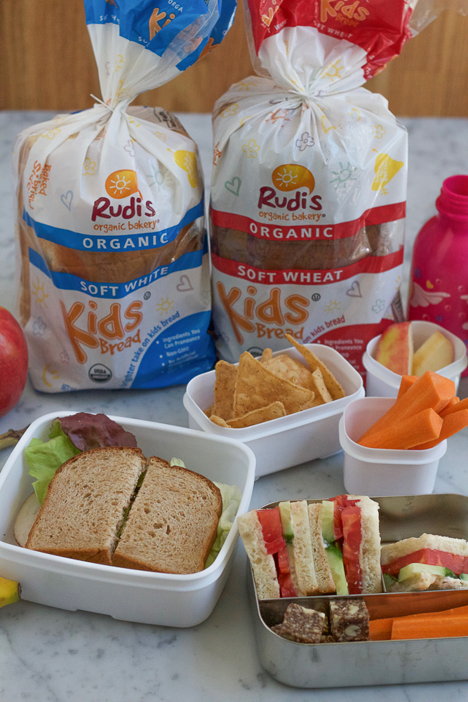 Tomato Cucumber Sandwiches!! Made with Rudi's Organic Bakery Kids Soft White Bread! The perfect sized bread for little hands! These are so easy to make and so delicious! If you grew up eating tomato sandwiches, you know how good this is!!!