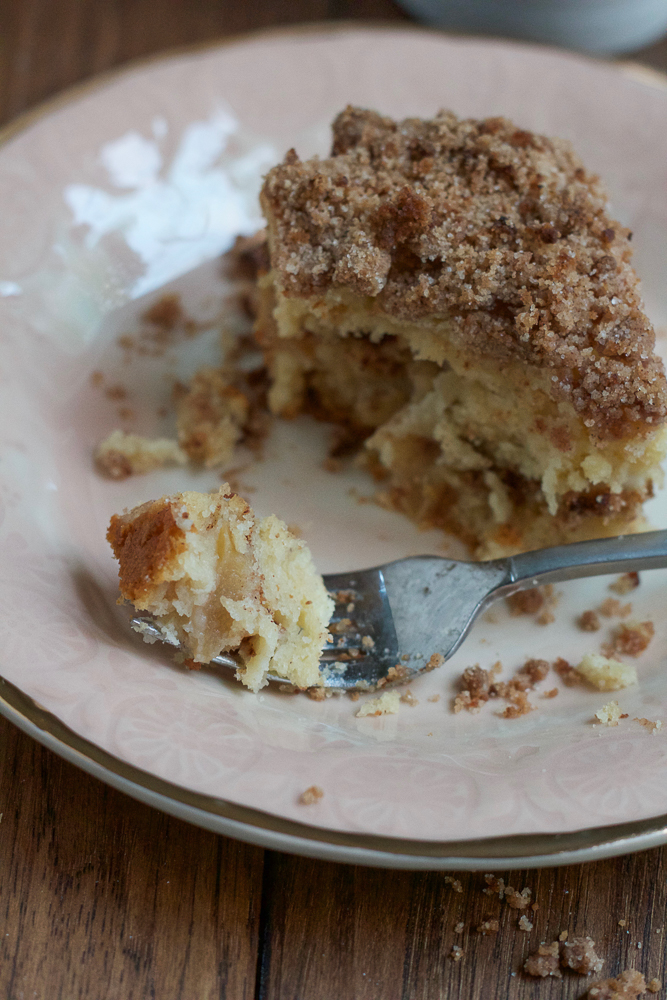 Apple Cinnamon Coffee Cake made with LACTAID® Calcium Enriched Reduced Fat 2% Milk, so it's still delicious but easier to digest! And I'm sharing one of my favorite coffee recipes to drink with this cake!