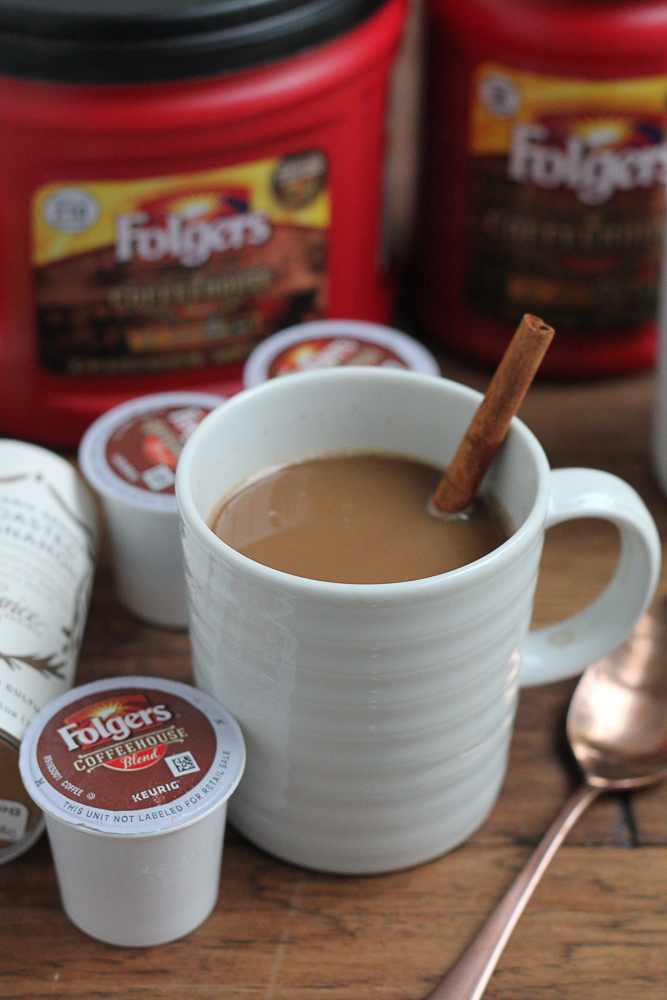 Pumpkin Spice Coffee!! A hot, delicious cup of Folger's new Coffeehouse blend coffee flavored with hints of cinnamon and pumpkin pie spices. . what could be better for your morning coffee?