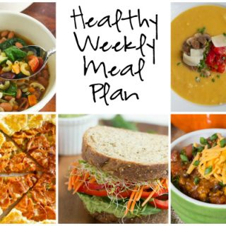 Healthy Weekly Meal Plan 10.1.16