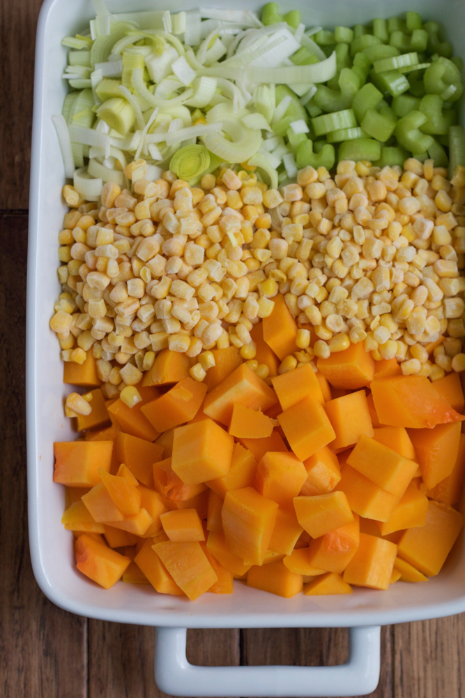 Autumn Corn Chowder! This Autumn Corn Chowder is packed with butternut squash, leeks and other fresh vegetables in a creamy, thick delicious soup. Create some family fun with lots of fall flavors and stock up on all you need at Target!!