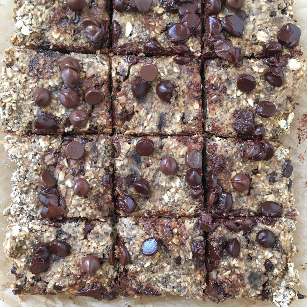 Chocolate Chia Bars! Soft, chewy, easy to make and packed with goodness! These Chocolate Chia Bars are so delicious! You have to try the recipe!
