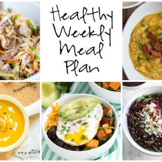 Healthy Weekly Meal Plan 11.12.16
