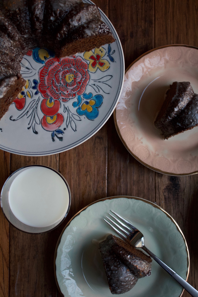 Gingerbread Cake, made with LACTAID® Reduced Fat 2% Milk, so it's still delicious but easier to digest! Enjoy everything the holiday season has to offer with this cake!